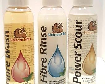 Unicorn Brand Power Scour Fibre Rinse Fibre Wash Trio