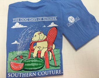 Southern Couture Dog Days of Summer tee NEW!