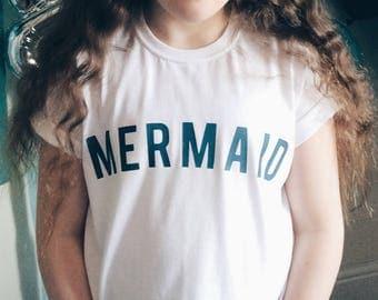 Mermaid T-shirt, Mermaid slogan tee, Kids Mermaid T-shirt, Mermaid Party, The little mermaid, mermaid gift, mermaid shirt, mermaid life