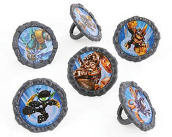 Skylander Giants Cupcake Rings - 24 Count