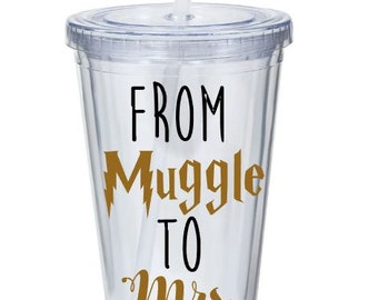 From Muggle To Mrs - Bridal Gift - Harry Potter Bride