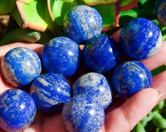 Lapis Lazuli Sphere Ball, Throat Chakra, Brow Chakra, Mineral Specimens, Gemstone Sphere, Sphere ball, Crystal Quartz, Stone of Loyalty