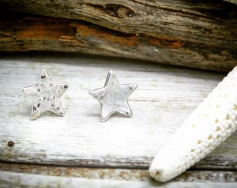 Silver star stud earrings|chistmas silver earrings| winter earrings|Silver stud earrings|star silver earrings|wonderland earrings