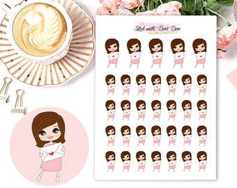 Amelie kawaii HAPPY MAIL planner stickers || Erin Condren Life Planner, Kikki K, Plum Paper Planner