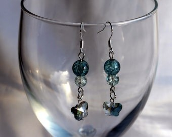 Blue Butterfly Earrings, Dangle and drop butterfly earrings, Butterflies gift, Birthday Gift, Butterfly Earrings, Butterfly theme Earrings