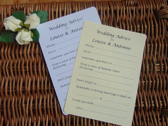 tags advice card wedding day wedding advice cards bridal shower