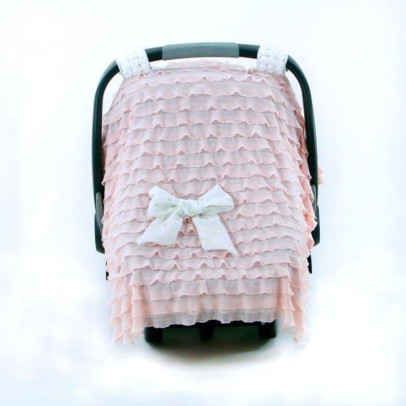 Car Seat Covers For Girls Ruffle Floret Rose Quartz
