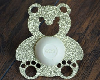 eos Lip Balm Holders / Set of 12 - Baby Shower Favor - Boy or Girl - Bear - Teddy Bear