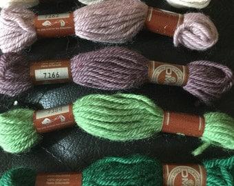Laine Colbert DMC Tapestry Wool  7170, 7262, 7266, 7384, 7540