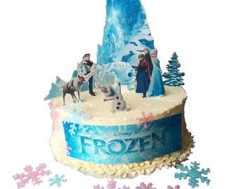 Edible Cake Images Trinidad : Frozen cake topper Etsy