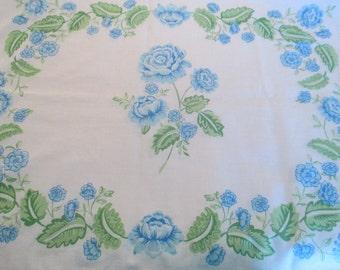Vintage Floral Pillowcase Set, Bedding, Linens, Fabrics, Quilt Squares