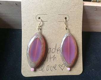 Pink Beaded Earrings