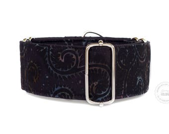 "Nightfall, dog collar, wide sighthound collar, 2"" martingale, 1.4"" martingale, 1"" martingale"