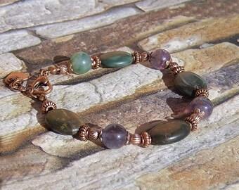Multicolor Raw Stone Bracelet Rough Gemstone Jewelry Natural Stone Colorful Bracelet Rough Crystal Jewelry Bracelet for Women Stone Jewelry