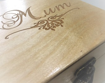 Mum gift/Mothers' Day/Fathers' Day/ Birthday/Memories, trinkets and treasures Box