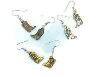 Cowboy Boot Earrings. Cowboy Boot Jewelry. Country Western Earrings. Country Western Jewelry. Cowgirl earrings. Cowgirl jewelry.