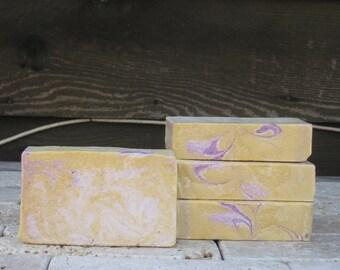 Lavender & Lemongrass Sea Salt Soap - Cold process, Artesian, Coconut, Avocado Oil, Shea Butter, Honey