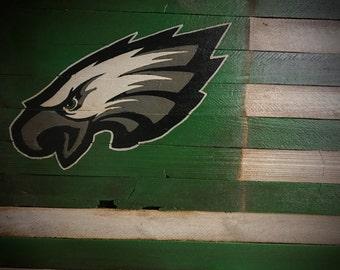 Philadelphia Eagles Flag, Philadelphia Eagles Sign, Philadelphia Eagles Wood Sign, Eagles Football