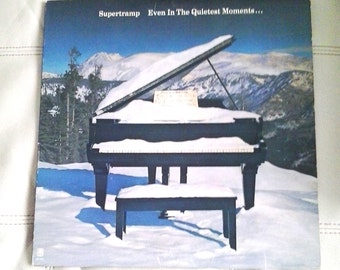 Vintage 1977 Supertramp  Even In The Quietest Moments.. Vinyl record 33 RPM AM records Canada