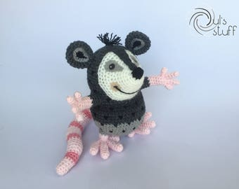 Opossum amigurumi, crochet opossum
