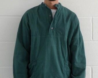 Oversized Italian Worker Sweatshirt Forest Green