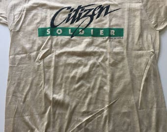 Awesome RARE Vintage 80s Citizen Soldier US Army Reserve T Shirt