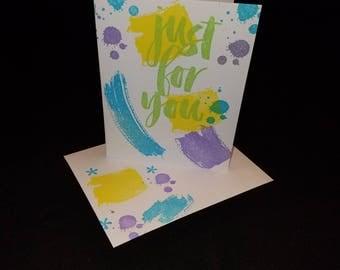 Set of 3 Paint strokes card set 4.25x5.5