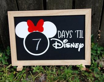 LIMITED EDITION Disney Vacation Countdown Chalkboard- Days Til Disney Countdown Chalkboard Stand Up Display