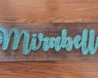 """Personalized Name """"Mirabelle"""" String Art"""