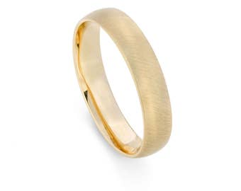 9ct Yellow Gold, Ethical, 4mm Mens Wedding Ring