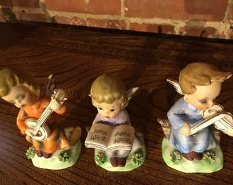Vintage Children Choir Figurines