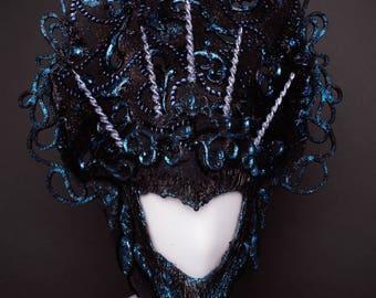 Headdress Mermaid Fantasy Dark Princess Unicorn Strass Costume Show