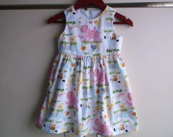 Nursery zoo white dress