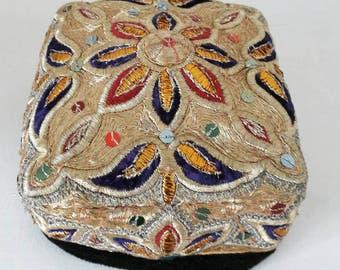 Vintage Uzbek duppi skullcap from Bukhara
