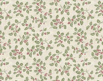 Makower Holly Fabric from the Christmas 2016 Balmoral Range 100% Cotton