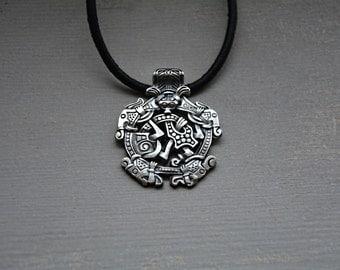 Borre style Viking Pendant Sterling Silver
