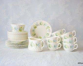 Spring Valley by Minton, Vintage Tea Set, Vintage Minton China, Minton Bone China, Vintage Wedding China Tea Set, Collectors Tea Set, 1960s