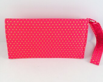 Lots of Dots in Pink Phone Wristlet