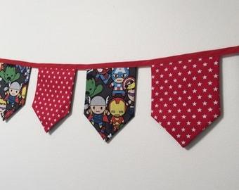 Super Hero Fabric Bunting / banner