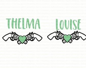 Thelma and Louise Printable Iron On Printable Heat Transfer SVG Silhouette Studio Designer Cameo Cricut Design Space Explore Expression