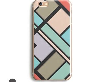 iPhone 7 Case Art, Geometric iphone case, 90s iphone case, phone case iphone 5s // Piet Mondrian inspired