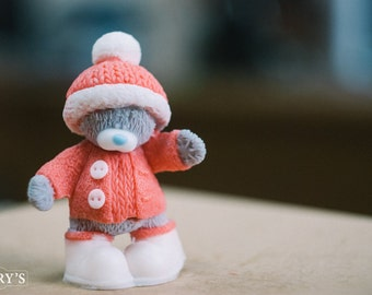 Soap Teddy with hat, Kids soap, Soap, gift for her, gift for girlfriend, gift for women, gift for girl, homemade soap, handmade Soap
