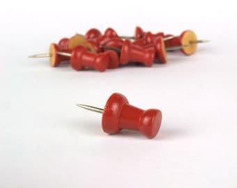 Push Pins, Push Pins for Maps, Orange Push Pins, Decorative Push Pins, Cork Board Pins, Desk Organisation, Thumbtacks, World Map Pins