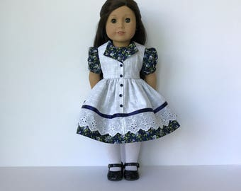 American Girl Doll Fairy Tale Dress with attached Pinafore