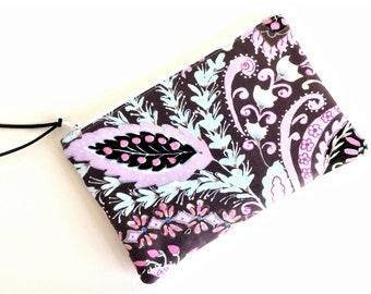 Purple Zipper Pouch - Gif for Her - Zip Pouch - Small Cosmetic Pouch - Small Zipper Pouch - Gift for Her - Gift for Women