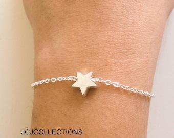 Sterling Silver Heart Bracelet Delicate, Cute, Dainty