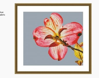 Cross Stitch Pattern, modern cross stitch, SUNLIT PETALS cross stitch chart - Downloadable PDF