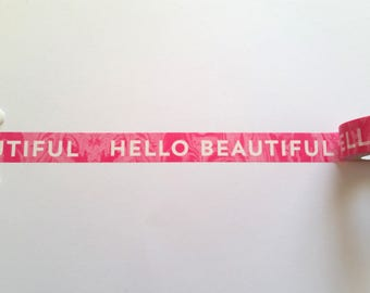 Hello Beautiful Washi Tape // Sample // Item #WT107