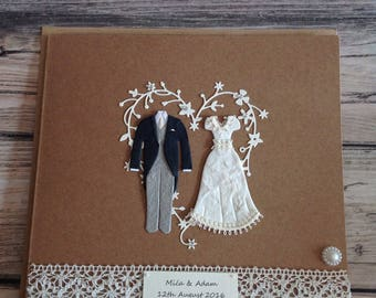 Large wedding card 8x8""