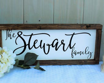 Family name sign - last name sign - rustic sign - farmhouse decor - rustic farmhouse decor - rustic wedding - farmhouse sign - wooden sign